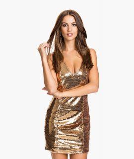 Shiny Panel V Dress